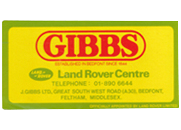 Gibbs Logo Yellow