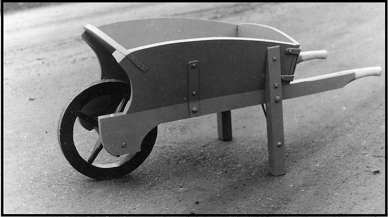 An early Gibbs Hampton Pattern wheelbarrow.