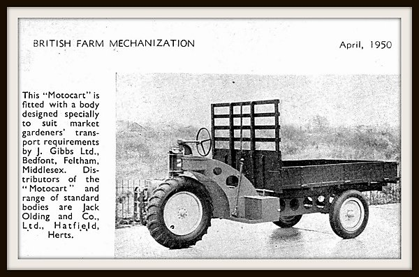 Suitably sized equipment was designed for use by smallholders and market gardeners.